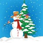 Snowman — Stock Vector #54223383