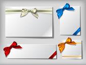 4 blank cards — Stock Vector