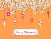 Christmas scrapbook card — Stock Vector