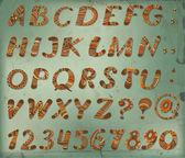 Doodle alfabesi — Stok Vektör