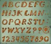Doodle alphabet — Stock Vector