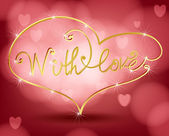 With love — Stock Vector