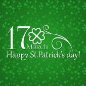St. Patrick day card — Stock Vector