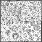 4 floral σχέδια — Διανυσματικό Αρχείο #67572987