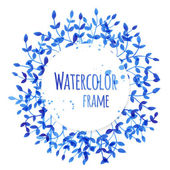 Watercolor frame — Stock Vector