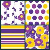 4 seamless patterns — Stock Vector