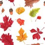 Autumn leaves pattern — Stock Vector #77711290