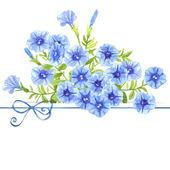Watercolor petunias — Stock Vector