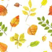 Autumn leaves pattern — Stock Vector