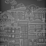 Doodle town — Stock Vector #81662246