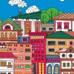 Doodle town — Stock Vector #81662260
