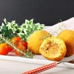 Arancini, rice balls with meat — Stock Photo #59863077