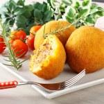 Arancini, rice balls with meat — Stock Photo #59863079