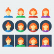 Flat people icons set — Stock Photo #64714411