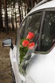 Flowers and car  — Стоковое фото