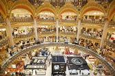Galeries Lafayette luxury mall interior in Paris — Stock Photo