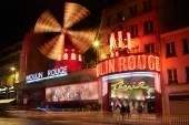 Moulin Rouge by night in Paris — Stock Photo
