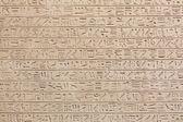 Egyptian hieroglyphs on stone background — Stock Photo