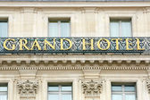 Grand Hotel sign in Paris, France — Foto Stock