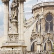 Paris, Notre Dame holy Virgin statue on the gothic cathedral — Stock Photo #55981005