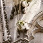Paris, Notre Dame gargoyles statues — Stock Photo #62788337