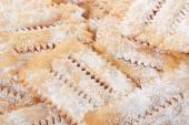 Chiacchiere, italian Carnival pastry background — Stock Photo