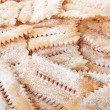 Chiacchiere, italian pastry background — Stock Photo #67956373