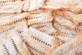 Chiacchiere, italian pastry background — Stock Photo