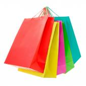 Colorful paper shopping bags — Stock Photo