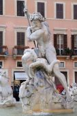 Piazza Navona is one of the most famous squares of Rome — Stock Photo