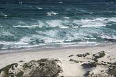 Waves on a beach — Foto de Stock