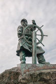 Moelfre Statue — Stock Photo