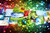 Collage of images background — Stockfoto