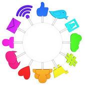 Social media symbols — Stock Photo