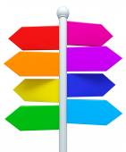 Colorful signpost — Stock Photo