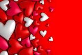 Renkli kalpler arka plan — Stok fotoğraf