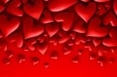 Czerwone serca — Zdjęcie stockowe