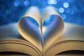 Book pages in the shape of a heart — Stock Photo
