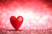 Shiny red heart background — Foto de Stock