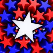 Red, white and blue stars — Stock Photo