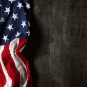 American flag for Memorial Day or 4th of July — Stock Photo