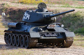 Historical tank T-34. — Stock Photo