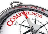 Competence conceptual compass — Stock Photo
