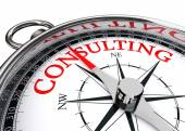 Consulting word on compass conceptual image — Stock Photo