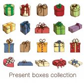 Present boxes collection. — Stock Vector
