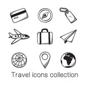 Travel icons collection. — Stock Vector