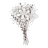 Flowers bouquet. — Stock Vector