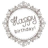 Décoratif arborant un texte de souhaits d'anniversaire. — Vecteur
