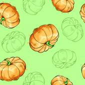 Pumpkins seamless pattern. — Stock Vector