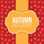 Autumn background with label. — Stock Vector